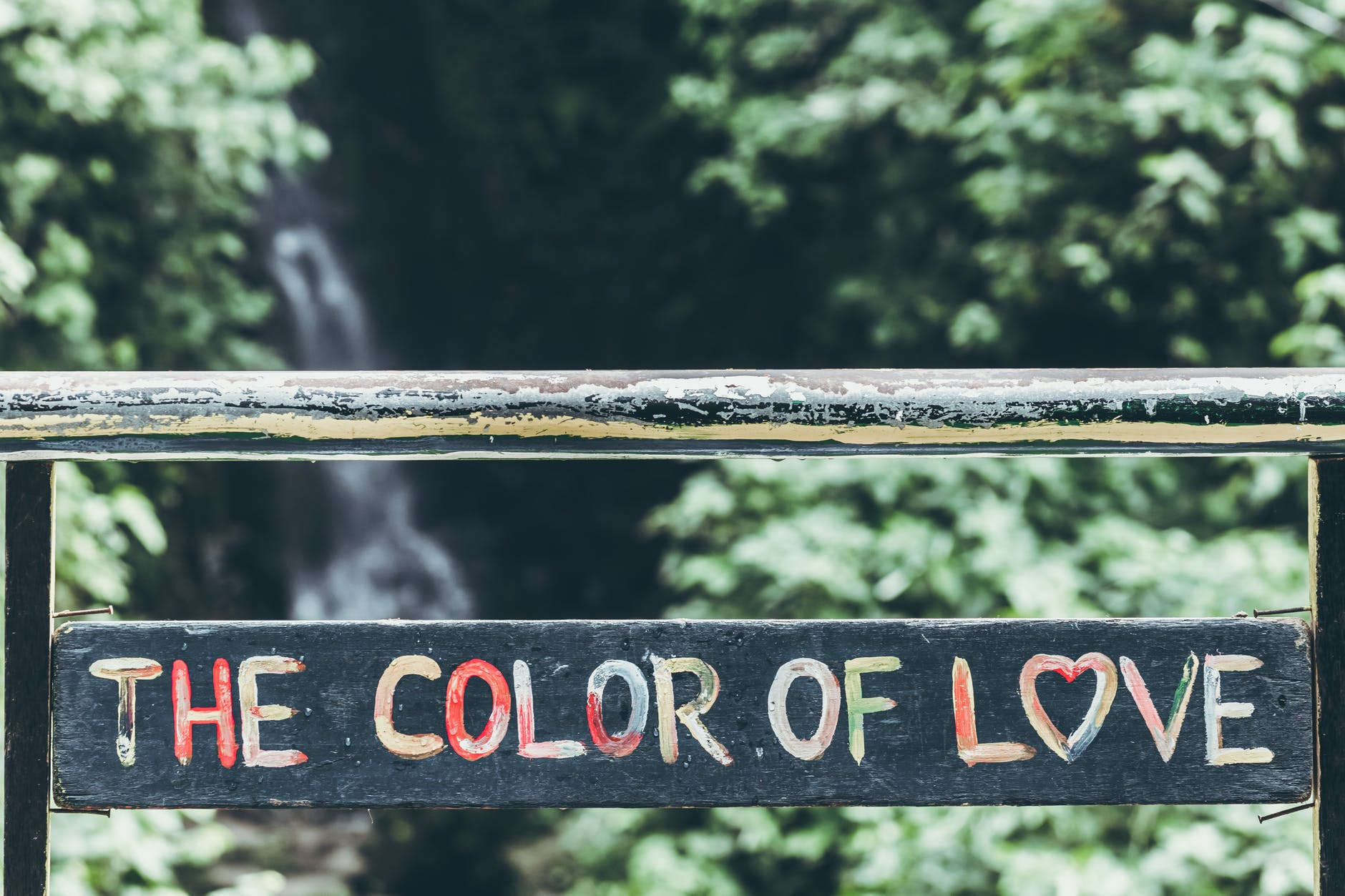 black pink green and blue the color of love printed wall decoration